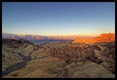 Sunrise at Zabriskie Point, Death Valley, CA (Rajesh Vijayarajan Photography) Tags: california sunrise wideangle bluesky deathvalley zabriskiepoint deathvalleynationalpark nikond80 partiallylitmountains rajeshvijayarajan rajeshvijayarajanphotography rajeshvj rajeshonflickr
