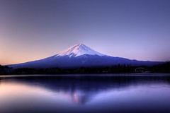 Rainbow Fuji (Starfires) Tags: winter mountain japan dawn rainbow fuji explore fujisan hdr 4winter mtfuji kawaguchiko surprising digitalvelvia tonemapping seeninexplore essentialbeauty wintermomentsofillusion mountainsnaps psychedelichdr whatyoudidntsee