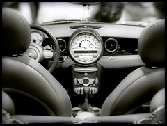 Mini Cooper Cockpit (` Toshio ') Tags: toshio washingtondc bmwminicooper mini cooper bmw lensbaby lensbabycomposer cockpit speedometer controls dash dashboard yellow britishmotorcorporation duotone blackandwhite bw blur washington dc districtofcolumbia autoshow nationalautoshow capitol car people crowds men women conventioncenter washingtonconventioncenter color colorful cars auto carshow minicoopers abigfave flickrsbest aplusphoto