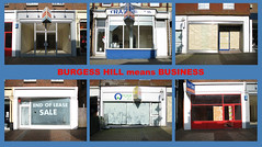 Burgess Hill means Business (monkeymillions) Tags: parr subparr burgesshill burgesshillmeansbusiness recession closure closed empty gone closeddown bankrupt economy postcard comment alittlebitpolitical