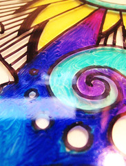 17-blended-colors (Annie Stuart) Tags: dog art lady illustration ink blog artist drawing creative hound line creation doodle sharpie blend spontaneous moontree improvise artday moontreestudios wwwmoontreestudioscom projectartday