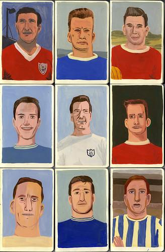 Footballers by Jack Teagle.