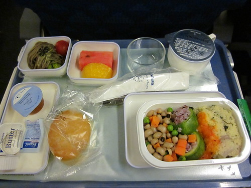 Look at my airplane food! Go Air Korea!