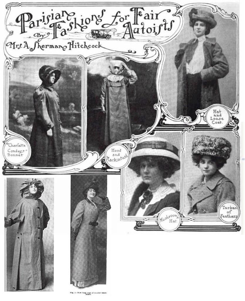1910 Parisian Fashion at the Auto Fair Women in Style
