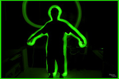 Mira, es radiactivo man! (Krudo Canon) Tags: largaexposicin radiactivo radiacin luminograma