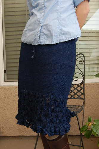Indigo Ripples Skirt - front