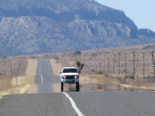 Mirage 15 miles west of Marathon, Texas, USA