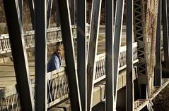 Girl on a bridge (zach.stone) Tags: girl river kentucky steelbridge redrivergorge pfcountryliving