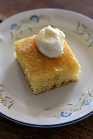 Greek Semolina Cake w/ Orange Syrup
