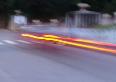 STOP! freine c'est la! (fablibre) Tags: macro jaune truck camion phare chaise flou ardeche gard mouvement pissenlit ogm colza