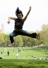 366.116  kung fu for girls (mintyfreshflavor) Tags: selfportrait newyork jump jumping centralpark explore year2 friday sheepsmeadow remoteconrol 365days explore23 exploretop100 366days 365more