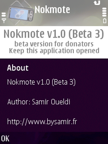 application nokmote