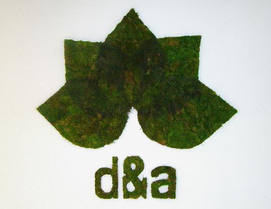 D&A Living Moss Logo - Edina Tokodi installation