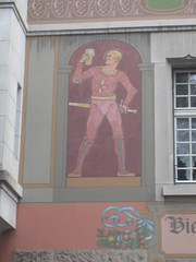 Hunk in red (trunkslamchest) Tags: detail painting switzerland hunk basel