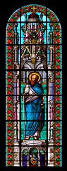 Stained Glass, Saint Paul, church of Saint-Pierre-des-Minimes, Clermont-Ferrand, Auvergne, France (MAMJODH) Tags: france art church saint paul europa europe arte faith iglesia kirche frana stainedglass chiesa vitrail foi frankrijk fe cristo francia kerk eglise fede auvergne f sanpaolo puydedme vetrata clermontferrand geloof christendom apostle arverne cristianit cristiandad apostolo christentum cristianesimo chrtient aptre cristandade gebrandschilderdglas