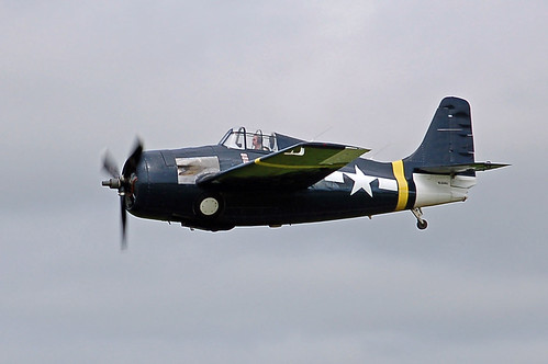Warbird picture - F4F Wildcat fly-by