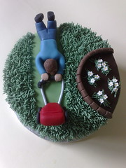 Father's Day Garden Cake (SmallThingsIced) Tags: cake garden day mower fathers sweettreats