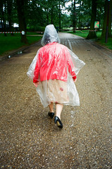 parc floral (varvara lozenko) Tags: park france rain photo highheels walk elderly summertime plasticraincoat parcfloraldeparis