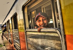 Happy travel (Branne) Tags: voyage trip railroad travel windows color colour travelling window train canon reflections catchycolors wagon tour rail railway route passing passage voz hdr prozor putovanje yourney pruga photomatix turizam putnik zeleznica singlejpghdr hdrfromasinglejpg