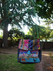 Patchwork Lunch Bag - With Strap Long