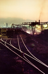 Foundry railway (fernandobracho) Tags: reflection industry train mexico tren iron reflejo rails riel industria monterrey acero ferrocarril fundidora artisticexpression