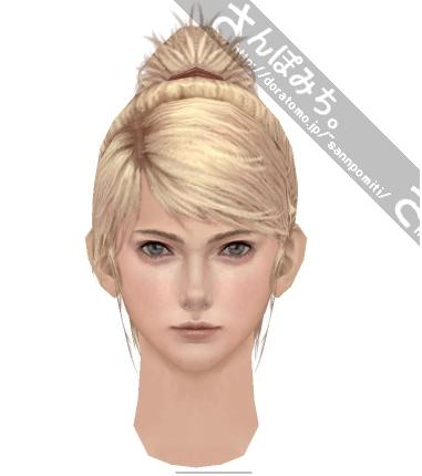 how to draw a ponytail front view