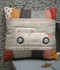 Classic Car Pillow (PatchworkPottery) Tags: classiccar handmade sewing crafts pillow cover quilted patchwork applique cushion