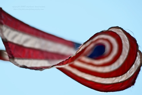 Swirl of Red White & Blue