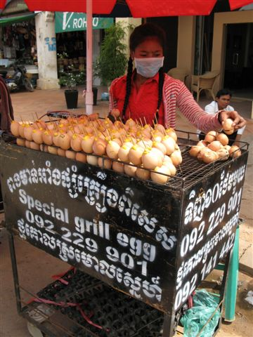selling grilled eggs