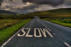 Slow Down .......You Clown!! (fatboyke (Luc)) Tags: road uk england landscape britain hdr aplusphoto brillianteyejewel qualitypixels 100commentgroup slowdownyouclown