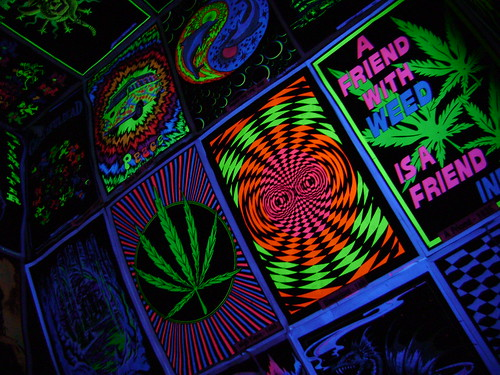 More dayglo posters