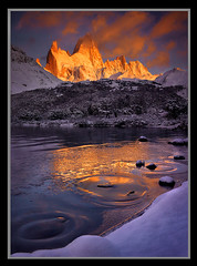 Lord of the Rings by Michael Anderson (AndersonImages) Tags: autumn winter sunset patagonia reflection fall ice argentina clouds digital america sunrise capri michael los pattern south fitzroy hasselblad anderson medium format wilderness alpenglow glaciares h2d outstandingshots artinoneshot
