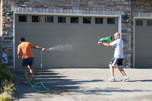 Water fight picture by Flickr User Jeff Sandquist