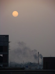The Rising Sun (HsnAli) Tags: pakistan sun sunrise smoke bricks pollution lahore soe defence risingsun bhatta dha lums mywinners impressedbeauty diamondclassphotographer citrit brillianteyejewel