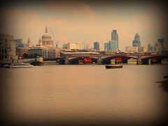 London skyline (chris37111) Tags: city bridge england london thames skyline boat capital stpauls olympus riverthames tidal londonskyline gurkin rnbthames 1030sw olympus1030sw