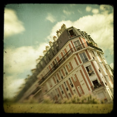 Paris is sinking (IrenaS) Tags: paris france building dream surreal montmartre sinking ttv