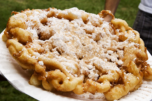 FUNNEL CAKE!!  IT IS SO DELICIOUS