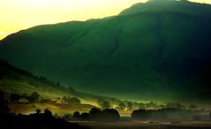 Valley of light (Suddhajit) Tags: uk summer fog sunrise scotland highlands valley lochduich sigma70300 vob canoneos400d alltnachruinn