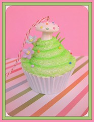 Fairy Cakes Cupcake Ornament (Pinks & Needles (used to be Gigi & Big Red)) Tags: mushroom glitter rainbow fake explore ornament cupcake kawaii etsy pretend inedible polkadotted fakecake gigiminor pinksandneedles fauxdough