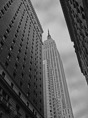 NYC architecture b&w (frisbeeace) Tags: street nyc newyorkcity urban newyork skyline architecture buildings cityscape skyscrapers scene photofaceoffwinner photofaceoffplatinum pfogold