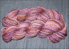 Plumcopper yarn