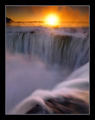 The Chasm by Michael Anderson (AndersonImages) Tags: park parque sunset brazil mist argentine del america sunrise river michael waterfall amazon rainforest south falls hasselblad anderson national jungle diablo iguazu pantanal chasm iguacu the garganta h2d