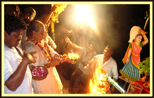 Holy Ceremony of  Krsna Janmashtami in Vrindavan