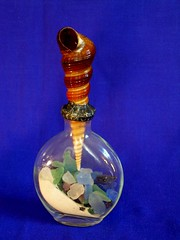 Bottle & Shell Assemblage #1 w/ seaglass (Terry.Tyson) Tags: art bottles craft crafting alteredart craftprojects