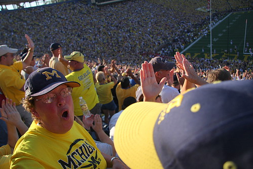 Michigan Fans High Five, A LOT.