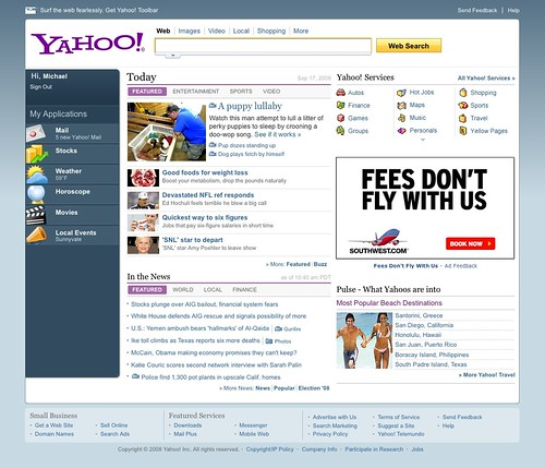 Yahoo's Old New Homepage