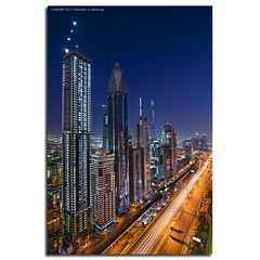 The Veins Of Dubai #2 (DanielKHC) Tags: longexposure roof night digital interestingness high nikon dubai cityscape dynamic top uae interestingness1 explore bluehour sheraton range dri increase hdr blending sheikhzayedroad d300 dynamicrangeincrease 8exp annpar danielcheong danielkhc tokina1116mmf28 explore24sep08 gettyimagesmeandafrica1