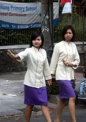 Indonesian girls (Mangiwau) Tags: girls female indonesia java photographer jakarta indonesian wanita polisi gadis cewek polwan