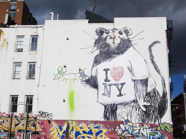Banksy at Grand & Wooster St. at ten15am