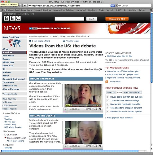 BBC: Qik Videos from the US: the debate